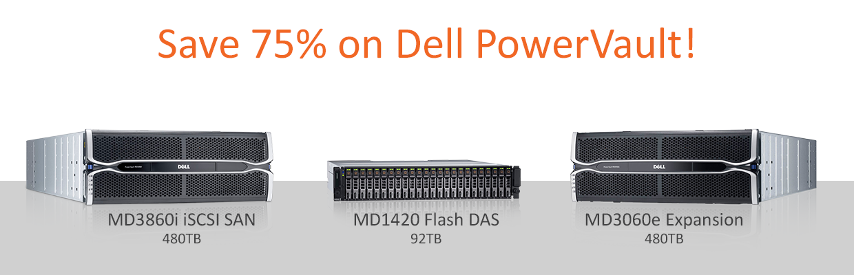 Save 40% on Dell PowerVault