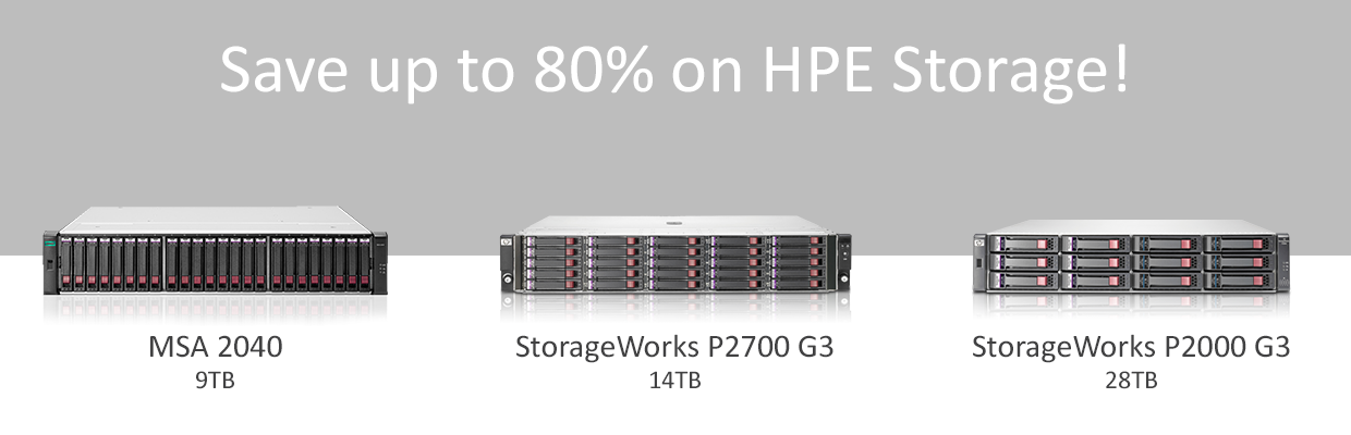 Save Up to 80% on HPE Storage