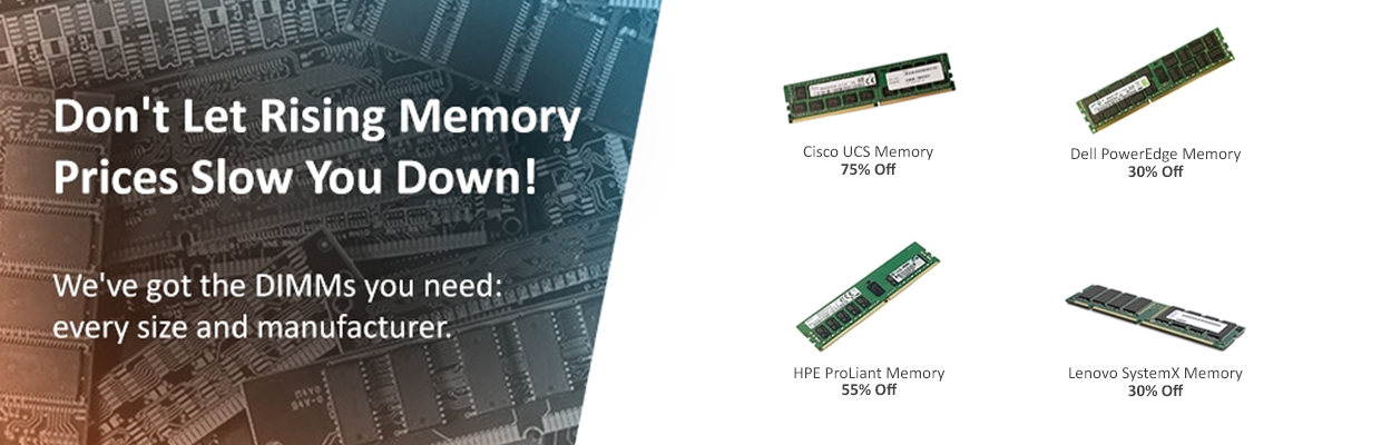 Cisco, Dell, HPE & Lenovo Memory